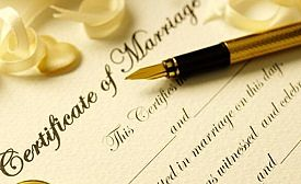 Certificado de matrimonio madrid