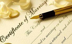 Certificado de matrimonio madrid